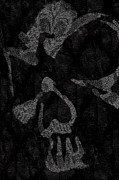 Dark Skull Print by Roseanne Jones