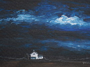 Storm Clouds Paintings - Dark Storm by Jana Caissie