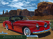 Classic Car Paintings - Darrin to Rock by Lucretia Torva