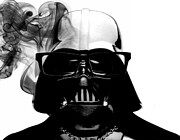 Micah Framed Prints - Darth Hipster Framed Print by Micah Mackenzie