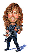 Art  Prints - Dave Mustaine Print by Art