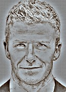 World Champions Mixed Media - David Beckham in 2009 by J McCombie