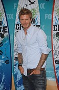 Teen Choice Awards Framed Prints - David Beckham In The Press Room Framed Print by Everett