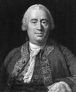 History Of Science Prints - David Hume, Scottish Philosopher Print by Middle Temple Library