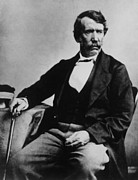 1850s Posters - David Livingstone, 1813-1873, Scottish Poster by Everett