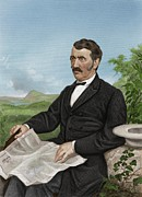 Abolition Framed Prints - David Livingstone, Scottish Explorer Framed Print by Maria Platt-evans