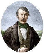 Zambesi River Framed Prints - David Livingstone, Scottish Explorer Framed Print by Sheila Terry
