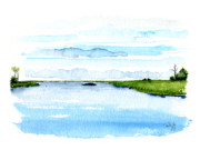 Oysters Painting Prints - Davis Bayou Ocean Springs Mississippi Print by Paul Gaj