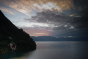 Mundo Prints - Dawn at Casa de Mundo Lake Atitlan 1 Print by Douglas Barnett