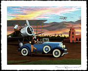 Aviator Painting Posters - Dawn Flight Poster by Tracy Dennison