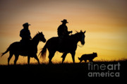 Silhouettes Metal Prints - Day is Done Metal Print by Sandra Bronstein