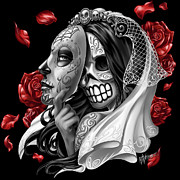 Sugar Skull Digital Art - Day of the Dead Bride by William Webb