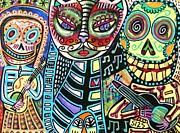 Invitations Paintings - Day Of The Dead Cat Serenade by Sandra Silberzweig