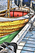 Docked Boat Digital Art Prints - Day Sail Print by Randall Arthur