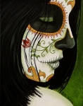Day Of The Dead Paintings - De un Dia Para Otro by Al  Molina