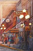 Dakota Painting Originals - Deadwood Nights by Ally Benbrook