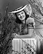 Puffed Sleeves Prints - Deanna Durbin, 1939 Print by Everett