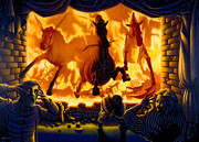 Brick Painting Originals - Death Rides A Swift Horse by Ross Edwards