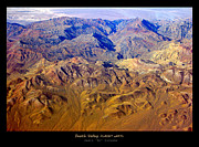 Aerial Photography Framed Prints - Death Valley PLANET eARTh Poster Framed Print by James Bo Insogna