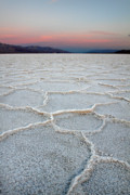 Evaporation Prints - Death Valleys Badwater Print by Pierre Leclerc