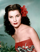 1950s Portraits Prints - Debra Paget, Ca. 1950s Print by Everett