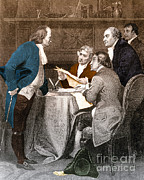 Benjamin Franklin Prints - Declaration Committee Print by Photo Researchers