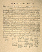 Autograph Framed Prints - Declaration Of Independence Framed Print by Granger