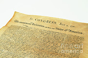 Signed Photo Prints - Declaration Of Independence Print by Photo Researchers, Inc.