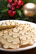 Glazed Posters - Decorated cookies in festive setting Poster by Ulrich Schade