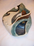 Landscapes Ceramics - Deep Sea Flora- view 2 by Jason Galles