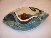 Landscapes Ceramics - Deep Sea Flora- view 4 by Jason Galles