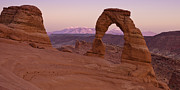 Nature Photo Prints - Delicate Arch at Dusk Print by Andrew Soundarajan