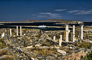 Turkish Photo Framed Prints - Delos Island Framed Print by David Smith