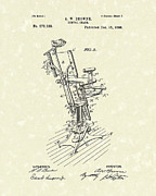 Chair Drawings - Dental Chair 1896 Patent Art by Prior Art Design