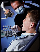Check Up Prints - Dentist Examining A Boys Mouth Print by Tek Image