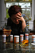 Distraught Posters - Depression And Addiction Poster by Photo Researchers, Inc.