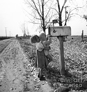 The Great Depression Framed Prints - Depression Era Rural America Framed Print by Photo Researchers