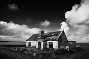 Diy Photo Prints - Derelict Abandoned Old Irish Cottage In Remote County Sligo Republic Of Ireland Print by Joe Fox
