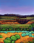 Vibrant Colors Paintings - Desert Gorge by Johnathan Harris