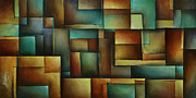 Blocks Painting Prints - Design 3 Print by Michael Lang