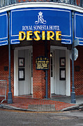 Travel Framed Prints - Desire Corner Bourbon Street French Quarter New Orleans  Framed Print by Shawn OBrien