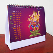 Desk Digital Art Originals - Desk Calendar 2013 by Uday Khatri