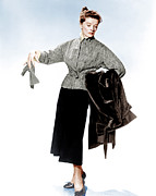 Long Skirt Framed Prints - Desk Set, Katharine Hepburn, 1957 Framed Print by Everett