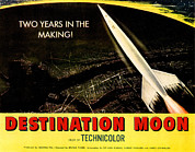 Jbp10ap23 Framed Prints - Destination Moon, 1950 Framed Print by Everett