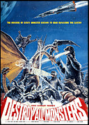 Horror Movies Framed Prints - Destroy All Monsters, Aka Kaiju Framed Print by Everett