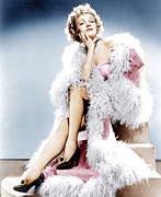 Ostrich Feathers Photo Prints - Destry Rides Again, Marlene Dietrich Print by Everett