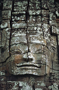 Siem Reap Posters - Detail Of An Angkor Wat Temple Poster by Steve Raymer