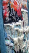 Felt Tapestries - Textiles Metal Prints - Detail of Winter Metal Print by Kimberly Simon