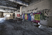 Pacers Photo Prints - Detroit Abandoned Building Print by Joe Gee