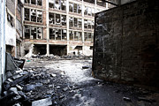Apparel Prints - Detroit Abandoned Buildings Print by Joe Gee